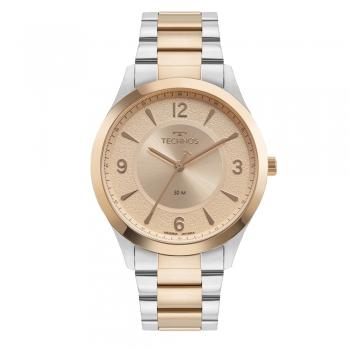 Relógio Technos Feminino Elegance Prata Rosê Gold Prova d'água Garantia
