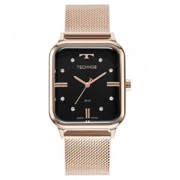 Relógio Technos Feminino Style Rose Quadrado Prova D'agua