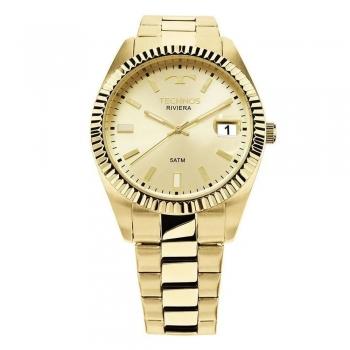 Relógio Technos Masculino Riviera Dourado Ouro Prova Dagua Original