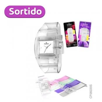 Relógio Unissex Analógico Champion Quadrado Cp28220s Aromati