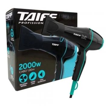 Secador Profissional Style 2000w Preto Azul Taiff