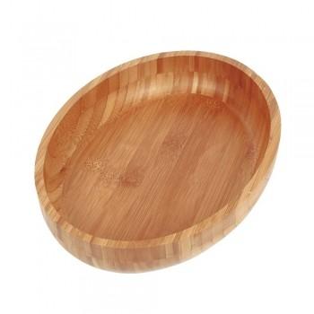 Tábua Gamela Oval Em Bambu Para Churrasco 33x23cm 3362 Mor