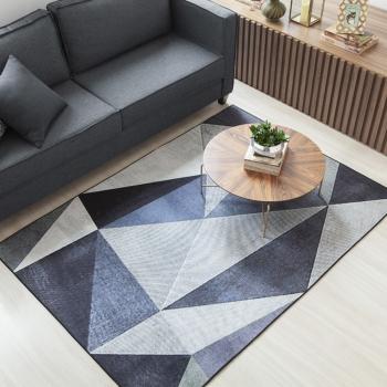 Tapete Sala Moderno Fácil De Limpar Antiderrapante Estampado 1,40m x 2,00m Berlim Corttex Sortimento 2