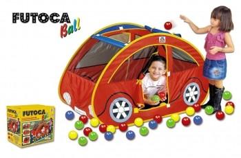 Toca Barraca Futoca Ball Vermelha Cabana Com 150 Bolinhas