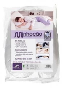 Travesseiro De Corpo Minhocão Multiuso Gestante Fibrasca
