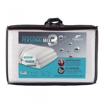 Travesseiro Fibrasca Altura Regulável Personal Mix 3 50x70