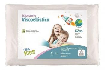 Travesseiro Nasa Kids Viscoelástico Criança Fibrasca Z5101