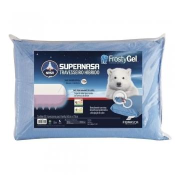 Travesseiro Super Nasa Frostygel Capa Fria Gelado - Fibrasca