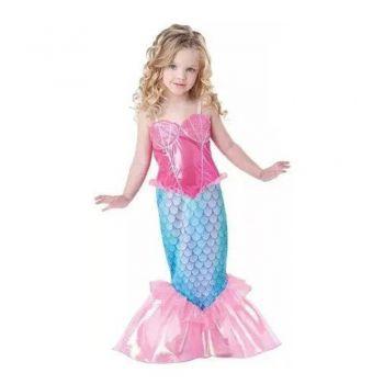 Vestido Fantasia Infantil Ariel Pequena Sereia Cauda