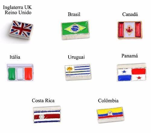Charms Para Medalhão Capsula Life Secrets Vivara Bandeiras