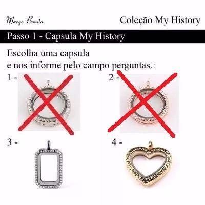 Colar Relicário Life Secrets Estilo Vivara Charms My History