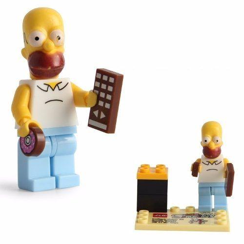 Homer Simpsons Lego Compatível Boneco