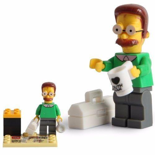 Ned Flanders Simpsons Lego Compatível Boneco