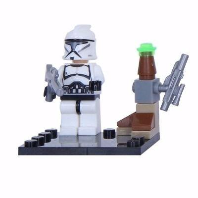 Boneco Minifigure Star Wars Clone Trooper Compatível Lego