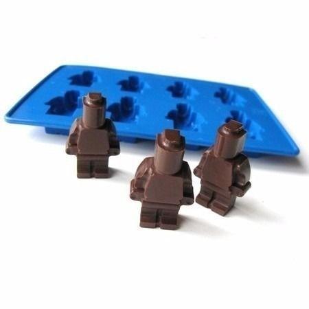 Forma Em Silicone Para Gelo Ou Chocolate Bonecos De Lego