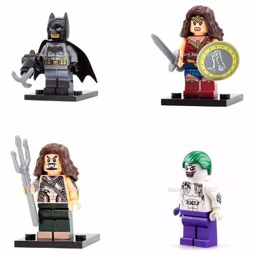 Kit 4 Bonecos Lego Batman Coringa Dc Comic Esquadrão Suicida
