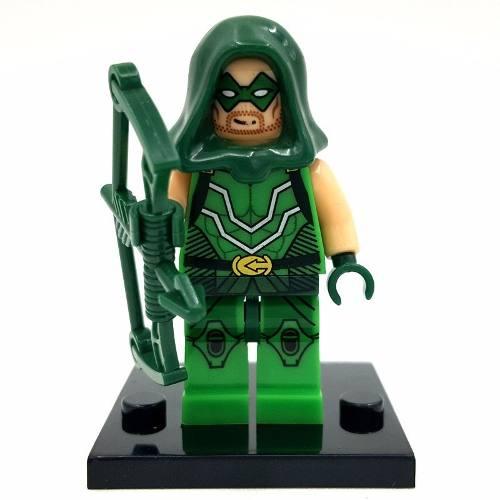 Bloco De Montar Lego Arqueiro Verde Arrow Dc Comics