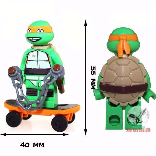 6 Bonecos Lego Tartarugas Ninjas Compatível
