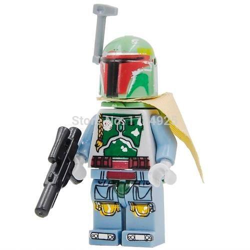 Boneco Minifigure Star Wars Boba Fett Compatível Lego #7