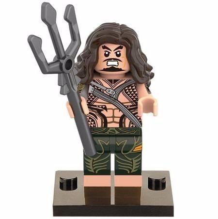 Bloco De Montar Lego Aquaman Dc Origem Liga Da Justiça
