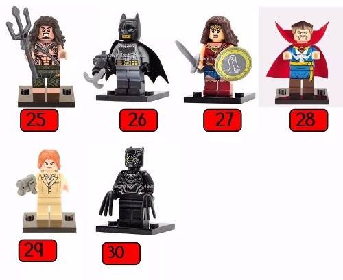 10 Unidades Lego Herois Vingadores Marvel Dc Compativel