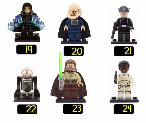 Kit 70 Bonecos Lego Star Wars Yoda Darth Vader C3po R2d2