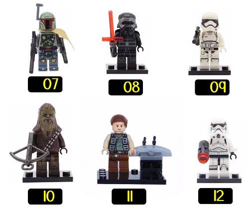 Kit 10 Bonecos Lego Star Wars Yoda Darth Vader C3po R2d2