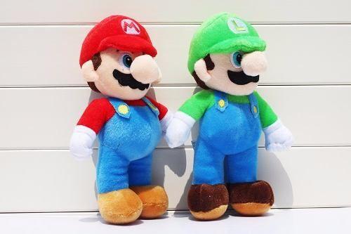 Bonecos Pelúcia Super Mario Bros Nintendo - Mario E Luigi
