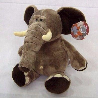 Boneco De Pelúcia Elefante Safari Cinza Antialergico Unisex