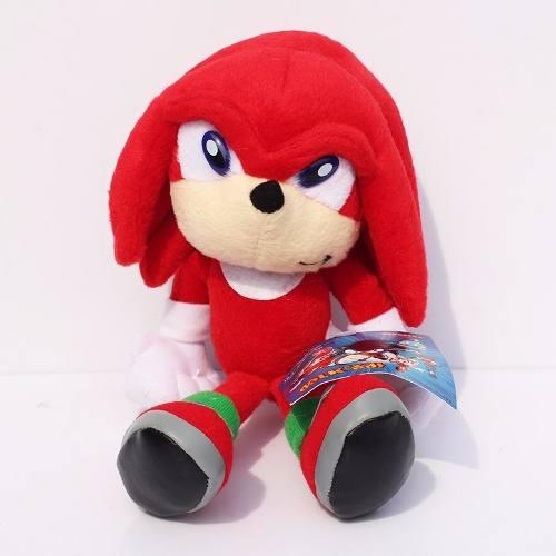 Pelúcia Knuckles Turma Do Sonic Grande 23cm Boneco Game