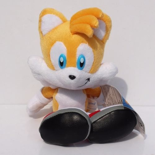 Pelúcia Tails Turma Do Sonic Grande 20cm Amarelo Boneco Game
