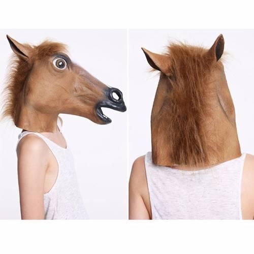 Máscara De Cavalo Látex Head Horse Cosplay - Pronta Entrega