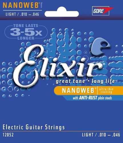 Encordoamento Guitarra Elixir Nanoweb Light 12052