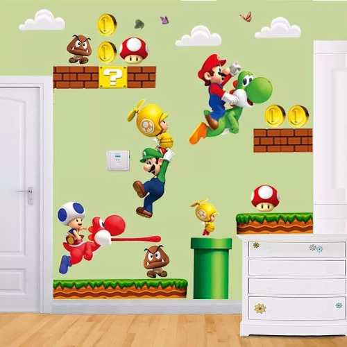 Adesivo Super Mario Bros Yoshi Infantil Papel Parede