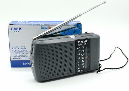 Rádio Analógico Antigo Portátil Cmik Icf-8 Fm Am 2 Original