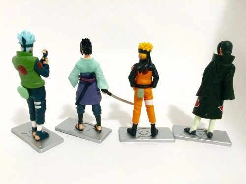 Kit Com Kakashi Naruto Itachi Sasuke - Pronta Entrega