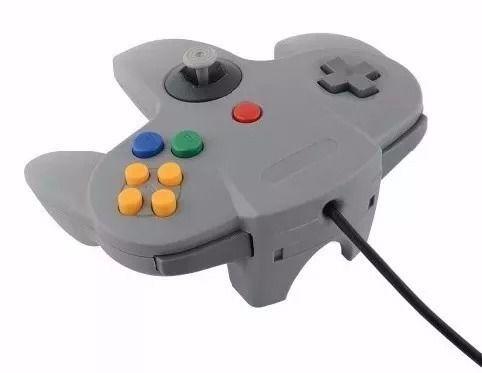Controle Retro Usb Nintendo N64 Cinza Para Pc Mac Linux