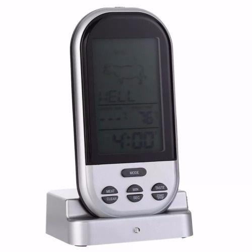 Termômetro Digital Carne Para Churrasco Portátil Lcd