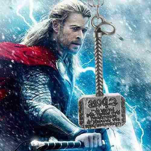 Colar Pingente Martelo De Thor Asgard Os Vingadores