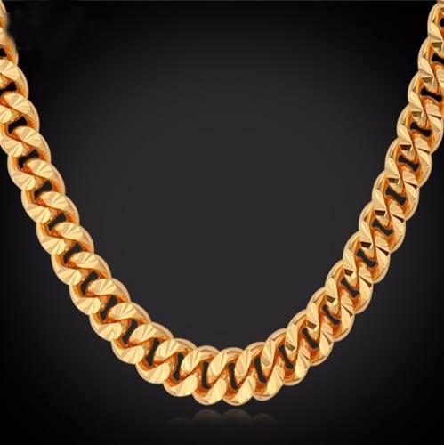 Corrente Cordão Aço Cirúrgico Inox 55 Cm Banhado Ouro 18k