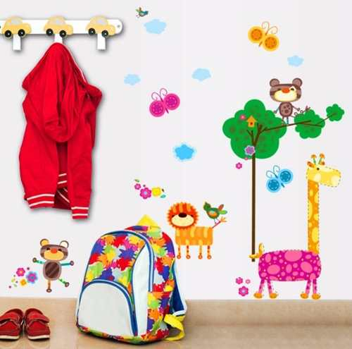 Adesivo Decorativo Parede Infantil Arvore Galho Zoo Safari