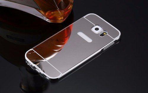 Bumper Aluminio Celular Galaxy S7 Edge G935 +tampa Espelhado Rosé