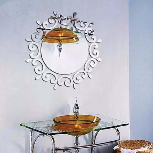 Espelho Decorativo Redondo Quarto Sala Moderno