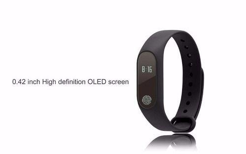 Bingo M2 Smartband Pulseira Inteligente Monitor Cardiaco Preta