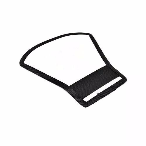 Kit 10 - Rebatedor Refletor Flash Luz Leque Branco Prata