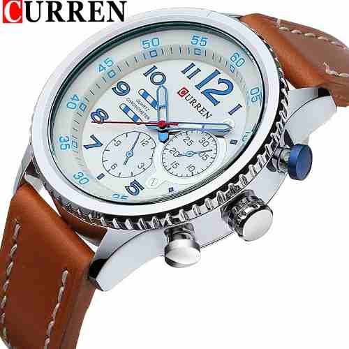 Relógio Curren 8179 Masculino Luxo Esportivo Original Barato