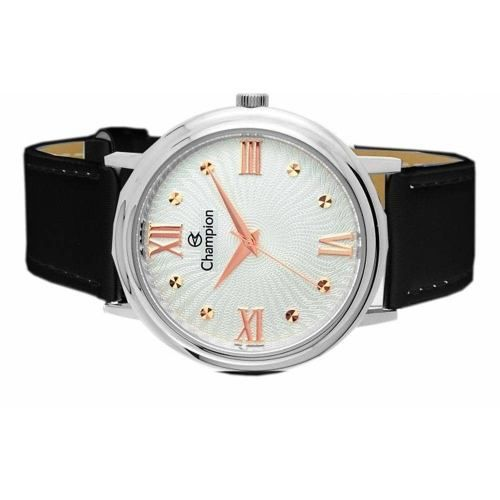 Relógio Champion Feminino Grande Couro Prova D'água Ch22822q