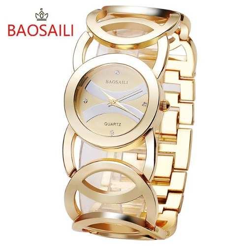 Relógio Barato Feminino Baosaili Am2032 Dourado