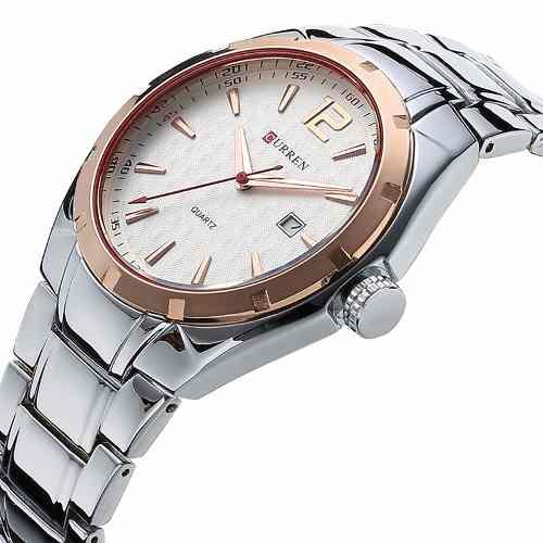 Relógio Masculino Curren 8103 Aço Casual Luxo