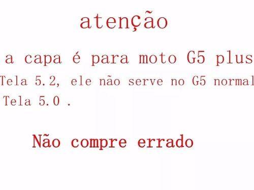 Capa Capinha Anti Shock Celular Moto G5 Plus Xt1683 Tela 5.